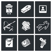 Killer, murderer  Icons Set — Stock vektor