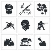 Set of Afghanistan  Icons — Stock Vector