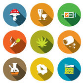 Color Drugs   icon collection — Stock Vector