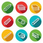 Metallurgy products  icons collection — Stock Vector