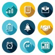 Office business flat icons set — Stock Vector #69210375