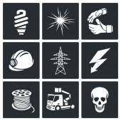 Electrical Company Icons set — Stock Vector