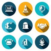 Gas trade  icons set — Stock Vector