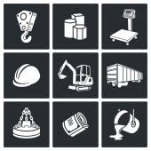 Metals Recycling Icons set — Stock Vector
