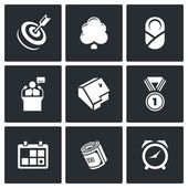 Incentives life icons. — Stock Vector