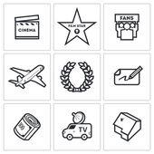 Cinema and Glory icons — Stock Vector