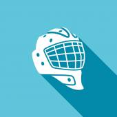 Goaltender helmet, hockey  icon — Vector de stock