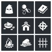 False religion, sect icons. — 图库矢量图片