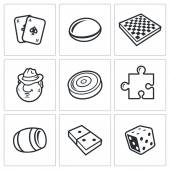 Board games icons — Stock Vector