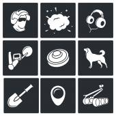 Demolitions, sapper icons. — Stock Vector