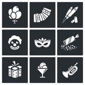 Event Agency icon set — Stock Vector