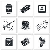 Killing profession icons — Stock Vector
