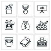 Political Elections icons. — Stock Vector