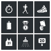 Walking  Sport icons. — Stock Vector
