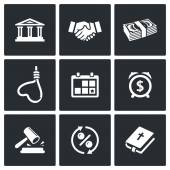 Credit, loan icons. — Stock Vector