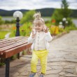The little girl in the Park outraged — Stock Photo #79206884