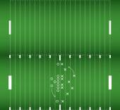 Set of american football field background eps10 vector — Stock Vector
