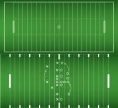 Amerikan futbolu alan arka plan eps10 vektör kümesi — Stok Vektör
