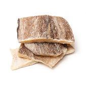 Pieces of salt cod fish — Stock Photo