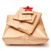 Gift wrapped parcels or presents — Stock Photo