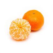 Clementina con segmentos — Foto de Stock