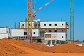 Construction of a residential area. — Stock Photo