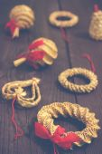 Straw ornaments — Stock Photo