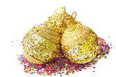 Golden Christmas ball — Stockfoto