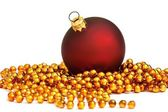 Christmas kırmızı top — Stok fotoğraf