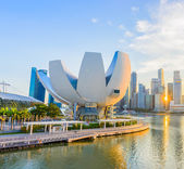 Singapur - el 24 de junio: artscience museum en 24 de junio de 2014 en singa — Foto de Stock