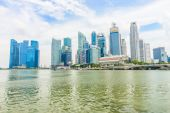 Urban landscape of Singapore — Stock Photo