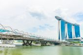 Marina Bay Sands, World's most expensive standalone casino property in Singapore — ストック写真