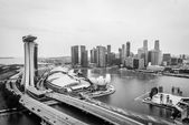 Paisaje urbano de singapur — Foto de Stock