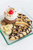 Waffle ice cream — Stock Photo