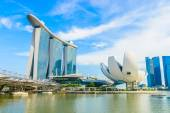 Marina bay sands resort hotel v singapuru — Stock fotografie