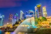 SINGAPORE - JUNE 22, 2014: View of Singapore Merlion at Marina B — Stock Photo