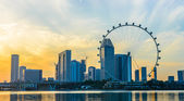 SINGAPORE - JUNE 23: At a height of 165m, Singapore Flyer is the — Stock Photo