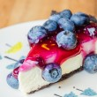 Blueberry cheesecake — Stock Photo #51859893