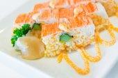Sushi on plate — Stock Photo