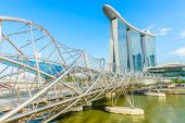 The Marina Bay Sands Resort Hotel in Singapore — ストック写真