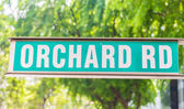 """Street sign that read """" Orchard Road""""  — Foto Stock"""