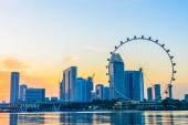 SINGAPORE - JUNE 23: At a height of 165m, Singapore Flyer is the — Photo