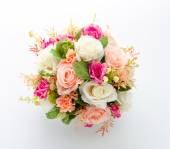 Bouquet flowers isolated on white — Stock Photo
