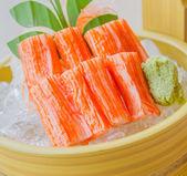 Stick crab sashimi — Stock Photo