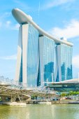Marina bay sands resorthotel — Stockfoto
