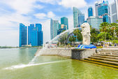 Singapore Merlion at Marina Bay — Stock Photo