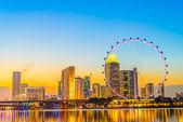 Diabelskiego młyna singapore flyer — Zdjęcie stockowe