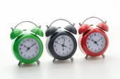 Colored clocks — Stock Photo