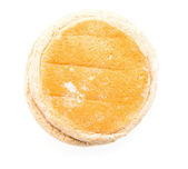 English muffin isolated on white — Stock Photo