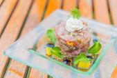 Tuna tartar — Stock Photo